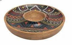 Round Serving Wooden Platter