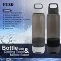Pvc Black Bottle With Cooling Towel And Mobile Stand, Size: Medium