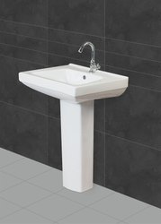 Ceramic White Sofia Pedestal Wash Basin, For Bathroom