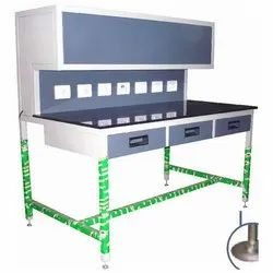Stainless Steel Silver Work Tables & Work Benches, For Industrial