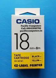 Casio XR-18YW1 Label Printer Tape