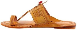 Men Kolhapuri leather sleeper, 0.350 Kg, Size: 7-10