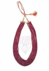 Gorgeous  Dyed Ruby Gemstone Beads Necklace At Best Prices