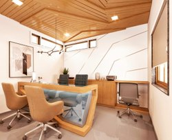 Commercial Interior Designing Office Designer, Work Provided: Wood Work & Furniture