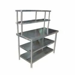 Silver Stainless Steel Work Tables