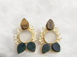 Real Stone Earrings Fashion Earrings