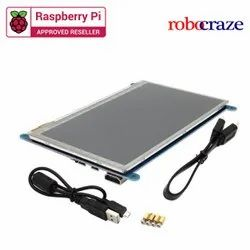 Raspberry Pi 7 Inch Capacitive Touch Screen LCD(C) 800x480 HDMI Interface Display Shield Robocraze