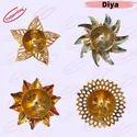 Diwali  Colourful  Decorative Flower Diya