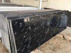 Fish Black Galaxy Granite Slab, For Flooring, Thickness: 20 mm