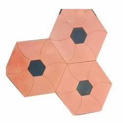 Porcelain Hexagonal Parking Tiles, Thickness: 15 mm