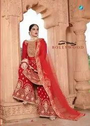Your Choice Bollywood Blooming Georgette Top With Plazzo Salwar Kameez Catalog