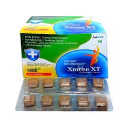 Amla Extract, Orange Peel Ext, Acerola Ext, Rosehip Ext, Vitamin C, Zinc & Vit D3 Chewable Tab