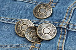 Metal Round Denim Jeans Button, Packaging Type: Packet