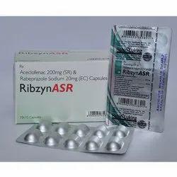 Aceclofenac 200mg SR And Rabeprazole Sodium 20mg EC Capsules