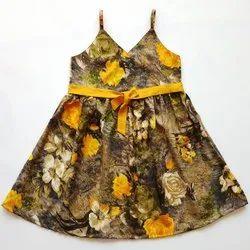 Casual Wear Kids/baby/girls Wrap Style Floral Dress