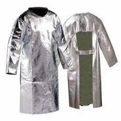 Aluminised Back Open Coat
