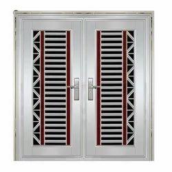 Powder Coated Stainless Steel Doors, Double Door