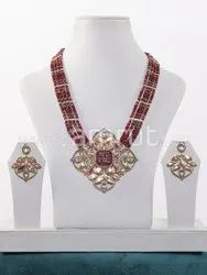 Pan India Ruby Coloured Antique Art Jewellery, Size: Standard Size