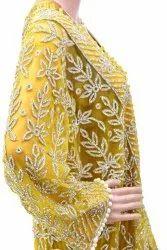 Georgette Embroidered Arabic Wedding Dresses, Women