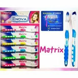 Soft Plastic Enova Matrix Toothbrush, For Cleaning Teeth, Packaging Size: 12 Per Sheet
