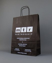 Black Printed Paper Bag, For Promotion, Capacity: 7 Kg