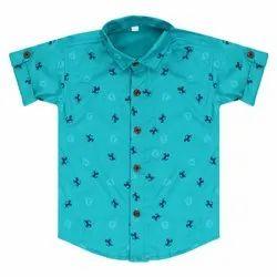 Cotton Regular Wear Kids Printed Shirts