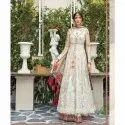 Jasper Angles Net & Satin Ladies Long Anarkali Suit, Machine Wash
