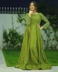 Fancy Ladies Indian Wear Georgette Gown