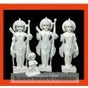 Marble White Ram Darbar Statues