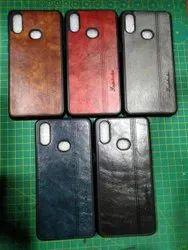 Samsung Black Single Leather Mobile Back Cover