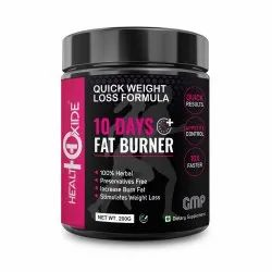 HealthOxide 10 Days Fat Burner, Quick Weight Loss Formula
