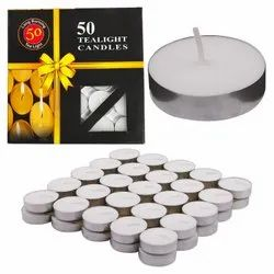 Wax Tealight Candles (Set of 50, Unscented) (50)