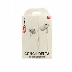 Portronics Conch Delta Wired Earphone, 18gm, Model Name/Number: Por-1146 (white)