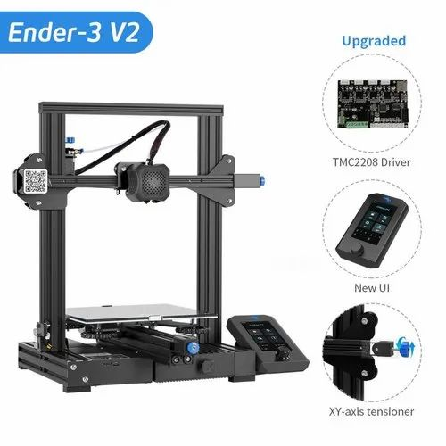 Creality Ender-3 V2 Upgraded 3DPrinter With Silent Motherboard And Resume Printing 220x220x250mm