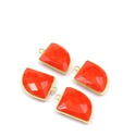 Red Chalcedony Bezel Connector