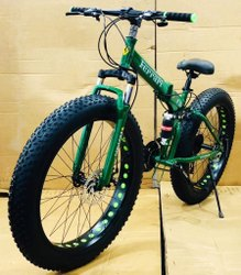 Ferrari Green Fat Tyre Foldable Cycle