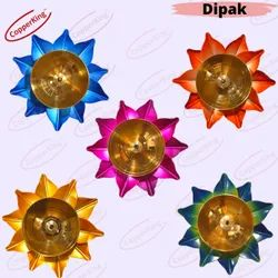 Diwali  Colourful  Decorative Flower Diya