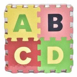 ABCD Puzzle Mat 36 Pieces Big Tiles Mat with Alphabets and Numbers for Kids