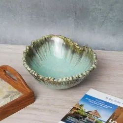 Amalfiee 10 Handmade Large Handmade Peppermint Fruit Serving Bowl, 9 Inch