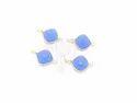 Blue Chalcedony Handmade Gemstone Bezel Connector