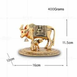 Gold Plated Cow And Calf Large