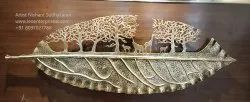 Hand Made Wrought Iron Leaf Wall Art