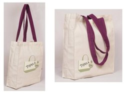 Loop Handle Organic Canvas Bag, Size/Dimension: 14x15x4 Inches