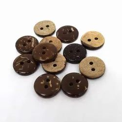 Brown Coconut Round Garment Button, For Garments, Packaging Type: Packet