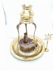 Narmadeshwar Shivling Brass Set