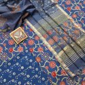 New Latest Attractive Hand Block Printed Cotton Dress  Material With Kota Doria Dupatta.