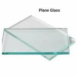Transparent Plain Glass, Shape: Flat