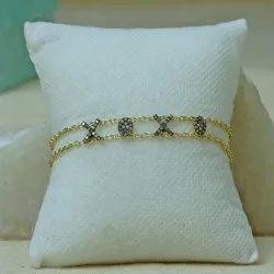 XOXO Bracelet, Diamond Bracelet, Gold Plated Bracelet, Silver Bracelet Jewelry