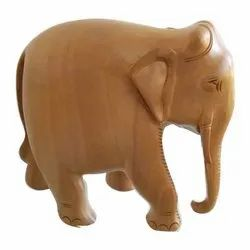 Brown Wooden Plain Elephant Statue, For Home Decor
