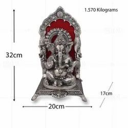 Silver Plated Ganesh Big Frame